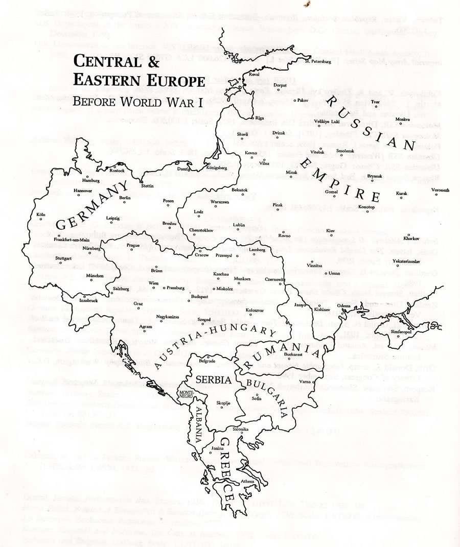 manneberg saga map of central eastern europe before World War 1 Map of Europe Before and After map of central eastern europe before world war i